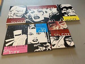 Sin City Vol 1-7 Comic Graphic Novel Books Lot Set Frank Miller