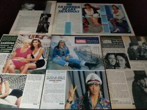 Sabrina Salerno * Magazine Clippings Lot * Free Shipping