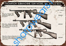 Metal Tin Sign thompson submachine gun Bar Home Vintage Retro Poster Cafe ART
