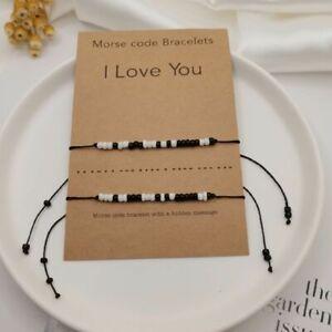 Bracelet Morse Code Secret Hidden Message I Love You Card Friendship Couple
