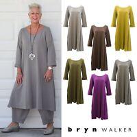 PACIFICOTTON Bryn Walker Pacific Cotton  LINUS DRESS  A-Line 1X 2X 3X  FALL 2017