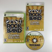 Rock Band: Country Track Pack (Microsoft Xbox 360, 2009) Complete With Manual