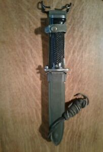 US M5 Bayonet Imperial w/ Eagle 3 Stars Gov't Stamp and B M co. Scabbard