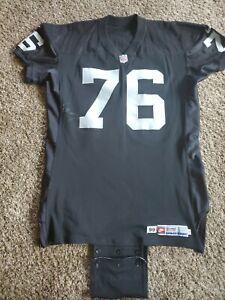 1999 Steve Wisniewski Oakland Raiders NFL Nike Team Issued Game Jersey 52 LV