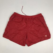 ADIDAS Mens Sport Lined Shorts M / L Red Polyester Vintage | 3 Stripe Retro Gym