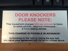 Door Knockers Sublimation Plaque