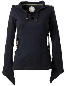 vishes Zipfelkapuze Shirt Pullover Gothic Elfen Larp Hoodie Hippie Ethno