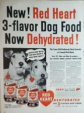 Lot of 3 Vintage Morrell Red Heart Dog Food Print Ads