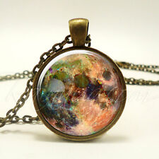 Full Moon Necklace, Wiccan Jewelry, Pagan Pendant (1876B1IN)