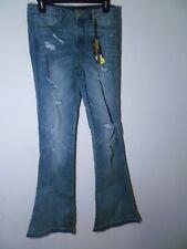 Suede Farrah Ladies Denim High Rise Flare Jeans Med Blue Size 28 NWT MSRP $69.00
