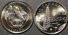 UNC Canada 1905-2005 Saskatchewan and Alberta centennial quarter 25 cent coins