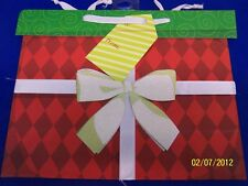 Wrap It Up Vogue Red Glitter Christmas Holiday Party Deluxe Large Gift Bag