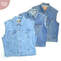 Vintage Levis Lee Wrangler Sleeveless Denim Jackets Waistcoat XS S M L XL XXL