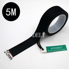5m x 20mm Seam Sealing Tape Iron On Hot Melt Wetsuit Tape Dry Suit Scuba Black