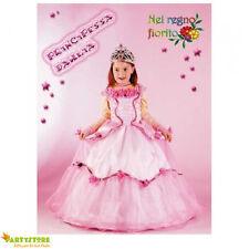 costume principessa dahlia 9/10 anni vestito abito carnevale bambina