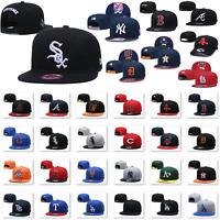 Fashion New Embroidered MLB Baseball Cap Snapback Bill Flat Hats Pick All Teams