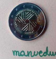 manueduc  LETONIA  2015  2 EUROS  Conmemorativa  Presidencia EUROPA UNC