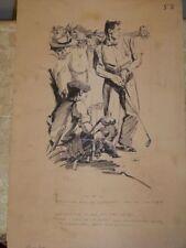 Vintage Hand Drawn Golf Advertising Illustration