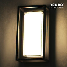 LED Exterior Wall Light Plain Opal White Glass Built-in Driver Weatherproof IP44