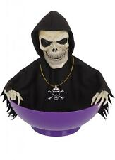 ANIMATED LIGHT AND SOUND SKELETON CANDY BOWL Halloween Decoration Tableware I348