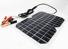 Flexible 5W 12V Solar Panel Trickle Boat CarYacht Auto Vehicle Battery Charger