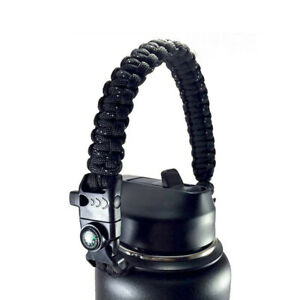 Cup Water Bottle Strap Handle Holder Paracord Fits Wide Mouth