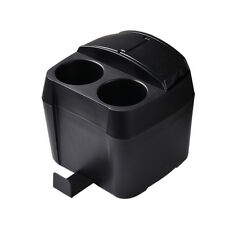 Car Cup Holder Drink Bottle Can Trash Dustbin Tissue Box Black Boxes Universal