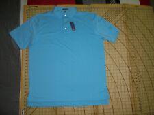 Mens Xlarge Peter Millar Light Blue Sleeve Logo (Markel) Polo Shirt - Nwt