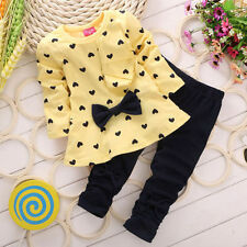 Newborn Baby Girls Cute T-Shirt Tops Pants Outfits Toddler Kids Clothes