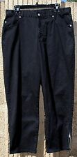 NWOT! RALPH LAUREN Stretch Cotton Pants in Black w/ Zippers on Bottom Cuff 16W