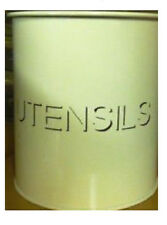 Crema De Estaño Pote de estilo vintage almacenamiento de cocina de utensilios, Shabby Chic, Retro 16x13cm
