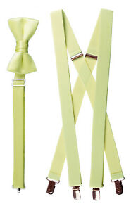 Tinytux Kids and Adults Formal Bow Tie and Suspender Sets in Several Colors