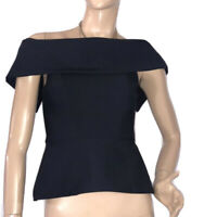 🌻 * CUE (AUS) SIZE 6 BLACK PEPLUM STYLE TOP FORMAL SPECIAL EVENTS LIKE NEW