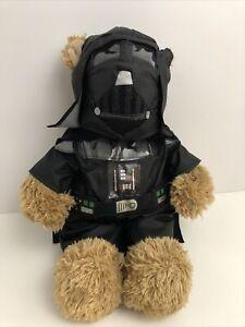 """Build a Bear Darth Vader Star Wars Stuffed Plush Brown Bear 16"""" Mask"""