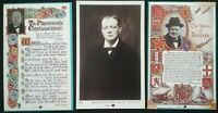 3 WINSTON CHURCHILL  POSTCARD SIZE DOUBLE SIDED  PHOTO CARD'S  WWII  ,  HISTORY