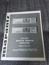 Marantz PM 630 / PM 730 Original Bedienungsanleitung PM630 / PM730