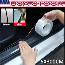 Car Door Plate Sill Scuff Cover Protector Sticker Bumper Anti Scratch Strip USA