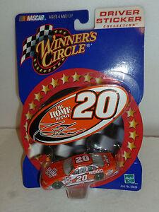 #20 TONY STEWART 2000 HOME DEPOT PONTIAC STICKER SIGN JGR WINNERS CIRCLE 1/64