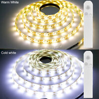 LED Night Light PIR Motion Sensor Battery Power Strip Light Cabinet Closet Lamp