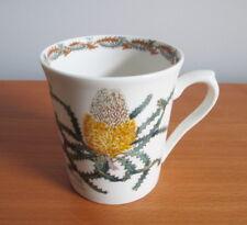Australian Fine China Wildflower Collection Mug Orange Woolly Banksia Nikulinski