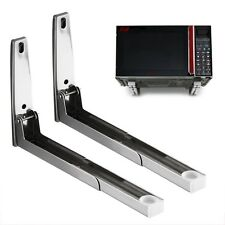 2 Universal Microwave Wall Brackets Holder Shelf Mounting Extendable Arms UK NEW