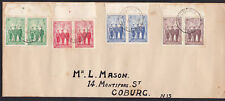 1940 ANZAC Australia WWII Imperial Forces Set Top Selvedge Pairs FDC Cover