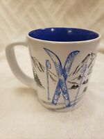 Tim Hortons 2018 Limited Edition Collectible Mug Blue Skiing Coffee Canada NIB