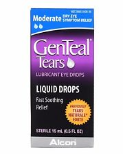 Genteal Tears Lubricant Eye Drops, Moderate Liquid Drops - 0.5 oz