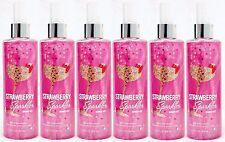 6 Bath & Body Works STRAWBERRY SPARKLER Shimmer Fragrance Body Mist Spray