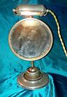 Antique 1890 Steampunk Adjustable Lited Shaving Mirror Nickel Plate Ball Socket