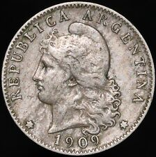 More details for 1909 | argentina 20 centavos | cupro-nickel | coins | km coins