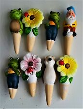 More details for 4 x novelty terracotta plant waterers 15 cms approx assorted designs