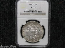 1897 O MORGAN-A HARDER DATE-NGC CERTIFIED AU 53 - WITH FREE SHIPPING