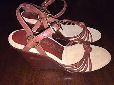 G.H. Bass Brown SUNJUNS Heels Strappy Sandals- Size 6N Narrow